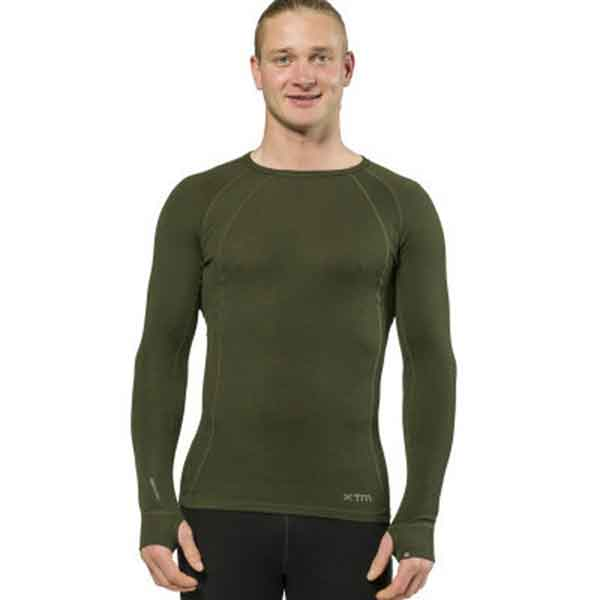 XTM Adult Male Thermal Tops Merino Mens Top 230GSM Forest - 3XL