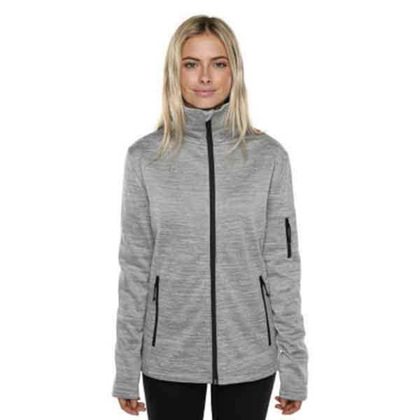 XTM Adult Female Active Jackets Crusade Ladies Fleece Jacket Light Grey - 16