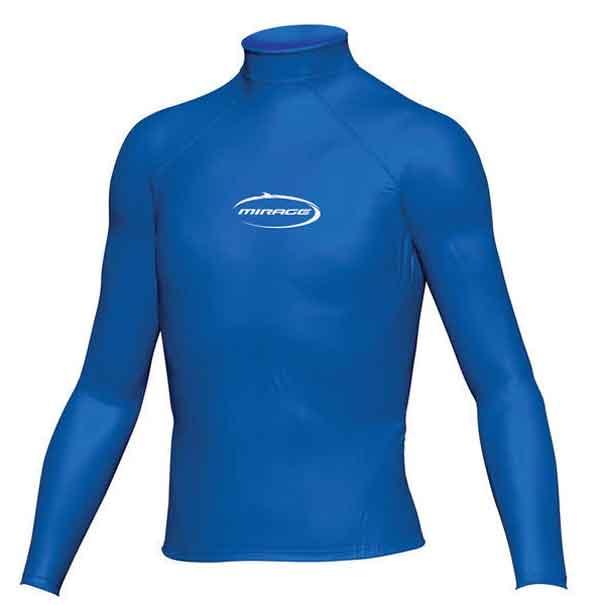 Mirage Junior Lycra Rash Long Sleeve Shirt 16 Blue