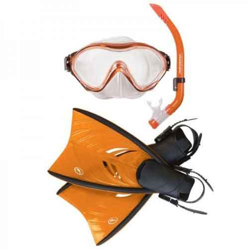 Hammerhead Propella Mask, Snorkel and Fin Set Kids Orange Small/Medium