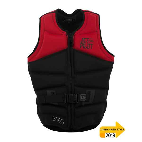JetPilot Addict Revers Segmented Front Entry Neo Vest Level 50 - Red/Black - Small