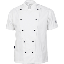 DNC Cool-Breeze Cotton Chef Jacket - Short Sleeve - White