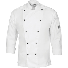 DNC Cool-Breeze Cotton Chef Jacket - Long Sleeve - White