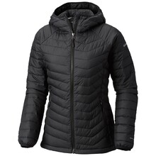 Columbia Womens Powder Lite Hooded Insulated Jacket - Black