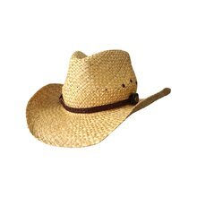 Jacaru 1818F Straw Cowboy Hat with Croc Band - Natural