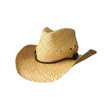 Jacaru 1818K Straw Cowboy Hat w Thin Plaited - Natural