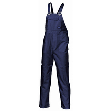 DNC Cotton Drill Bib And Brace Overall - Navy