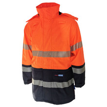 DNC HiVis FR & HRC2 D/N Rain Jacket - Orange/Navy