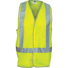 DNC Day/Night Cross Back Safety Vests - Yellow