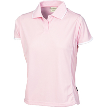 DNC Ladies Cool-Breathe Piping Polo - Pink/White