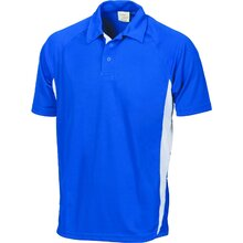 DNC Kids Cool-Breathe Side Panel Polo Shirt - Royal/White