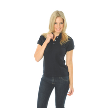 DNC Ladies Cotton Rich New York Polo - Navy