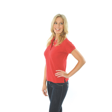 DNC Ladies Cotton Rich New York Polo - Red