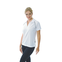 DNC Ladies Cool Breathe Rome Polo - White/Navy