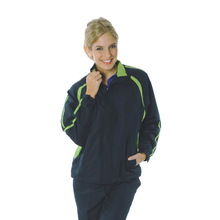 DNC Adults Ribstop Athens Track Top - Navy / Cool Lime
