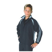 DNC Kids Ribstop Athens Track Top - Navy/Sky