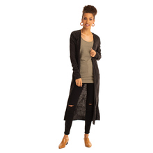Synergy Relaxed Long Cardigan - Obsidian