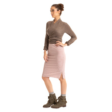 Synergy Striped Strut Skirt - Amber Stripe