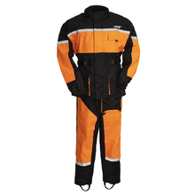 First Manufacturing Men'S Rain Suit High Visiablity-Rip Stop Breathable Orange