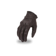 First Manufacturing Men'S Perf Glove Rubber Knuckle Black