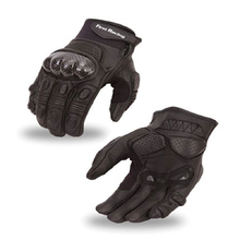First Manufacturing Hard Knuckle Racer Glove Black
