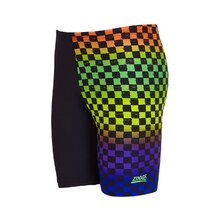 Zoggs Boys Race Day Mid Jammer - Black/Multi