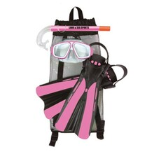 Land & Sea Pink Platypus Junior Mask, Snorkel & Fins Set