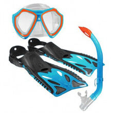 Land & Sea Nipper Kids Mask, Snorkel & Fins Set Junior Blue