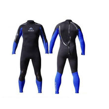Adrenalin Mens Steamer Long Sleeve & Leg 3mm/2mm Neoprene Wetsuit Blue
