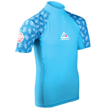 Adrenalin Beach Short Sleeve Girl Rash - Aqua