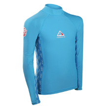 Adrenalin Beach Long Sleeve Girl Rash - Aqua - 10