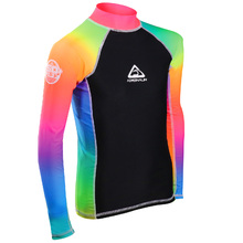 Adrenalin Beach Long Sleeve Junior Rash - Rainbow