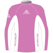 Adrenalin Junior Rash Vest Lycra Long Sleeve Pink