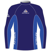 Adrenalin Junior Rash Vest Lycra Long Sleeve High Visibility Blue