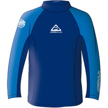Adrenalin Beach Lycra Mens Long Sleeve Rash Vest - Navy - XS