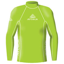 Adrenalin Adult Rash Vest Lycra Long Sleeve High Visibility Lime