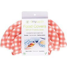 4Myearth Food Cover Set Red Gingham - XS, S, M & L 4
