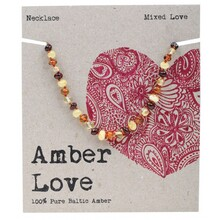 Amber Love Children's Necklace 100% Baltic Amber - Mixed Love 33cm