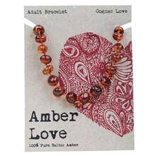 Amber Love Adult's Bracelet 100% Baltic Amber - Cognac Love 20cm