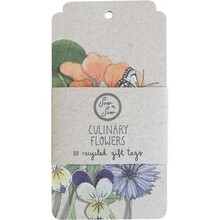 Sow 'N Sow Recycled Gift Tags - 10 Pack Culinary Flowers - 10