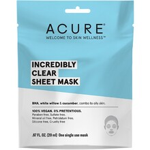 Acure Incredibly Clear Sheet Mask 20ml
