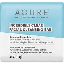 Acure Incredibly Clear Facial Cleansing Bar - 113g