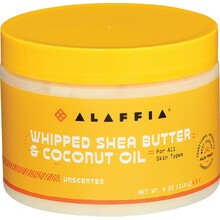 Alaffia Whipped Shea Butter & Coconut Oil Unscented & Unrefined 114g