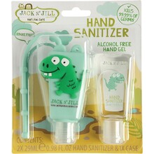 Jack N' Jill Hand Sanitizer & Holder Alcohol Free - Dino 2x29ml