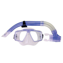 Mirage Adult Quest Silicone Mask and Snorkel Set Dark Blue