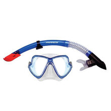 Mirage Adult Pacific Mask and Snorkel Set Blue/Clear