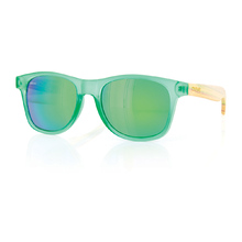 Carve Bronte Green/Bamboo Iridium Unisex Sunglasses