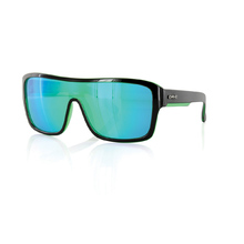 Carve Anchor Beard Black/Green Iridium Unisex Sunglasses