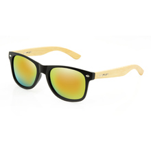 Drift Bamboo Matt Black With Bamboo Grey Sunglasses