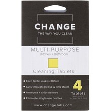 Change Cleaning Tablets Multi-Purpose - Kitchen & Bathroom - 4 Tabs